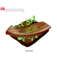 smorrebrod with roast beef the national dish of d vector image vector image