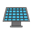 solar energy to care ecology and planet vector image vector image