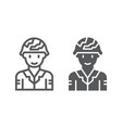 soldier line and glyph icon military and army vector image