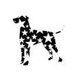 star dog christmas dog vector image vector image