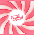sweet candy background with place for your content vector image vector image