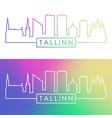 tallinn skyline colorful linear style editable vector image vector image