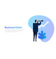 vision and growth concept businessman looks vector image
