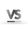 vs v s lines letter design with creative elegant vector image vector image
