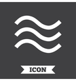 Water waves sign icon Flood symbol vector image