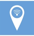 Wi-fi pointer white icon vector image vector image