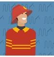Fireman occupation vector image