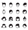 hair style icons set vector image