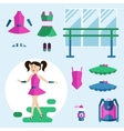 Girl dancer and items vector image