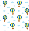 A seamless design with big floating balloons vector image vector image