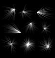 abstract explosion burst rays beams flash glitter vector image