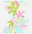 abstract falling leaves seamless pattern in fresh vector image