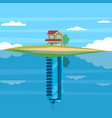 alternative housing cottage or skyscraper vector image