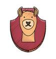animal trophy vector image vector image