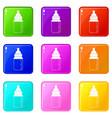 baby milk bottle icons 9 set vector image vector image