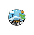 beach volleyball logo for the team and the cup vector image vector image