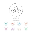Bicycle Clean thin line style sport icon set vector image vector image
