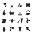Black Bathroom and hygiene objects icons vector image vector image