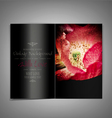 black elegant brochure with red poppies vector image vector image
