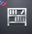 Bookshelf icon symbol 3D style Trendy modern vector image vector image