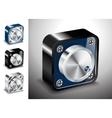 button icons 3D voice sound vector image vector image