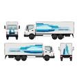 car truck branding identity of truck vector image