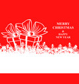 christmas banner with snowflakes and gifts vector image vector image