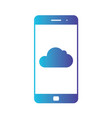 cloud storage cloud icon on smartphone screen vector image vector image