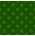 Clover leaves background St Patrick day vector image vector image