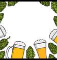 colorful beer menu vector image vector image