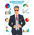 Confident business analyst vector image