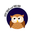 cute cartoon owl on a white background vector image