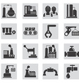 Different types of industrial construction vector image