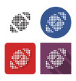 dotted icon american football in four variants vector image