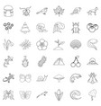 Eco way of life icons set outline style
