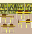 Empty Reading Seats In A Library vector image vector image