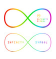 endless icons colorful infinity symbols isolated vector image