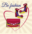 expensive fashion shoes and bag vector image