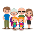 Family group portrait parents grandparents and chi vector image