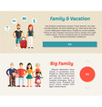 Family Vocation and Big Family Flat Design Concept vector image vector image
