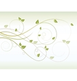 Floral seasonal background with swirls vector image