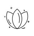flower icon design vector image