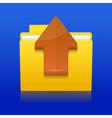 Folder upload vector image vector image