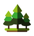 forest cartoon flat vector image vector image