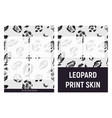 gray and black leopard print skin vector image
