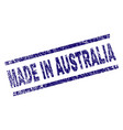 grunge textured made in australia stamp seal vector image vector image