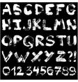 hand drawn gouache alphabet vector image