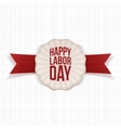 Happy Labor Day paper realistic Banner Template vector image vector image