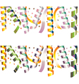 holiday streamers vector image vector image