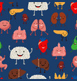 human internal organs seamless pattern vector image